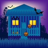 House in the Halloween night Stock Photo
