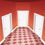 House Hallway. Cartoon vector illustration of the house hallway Royalty Free Stock Photography