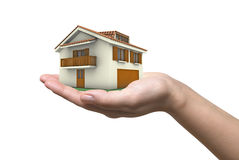 House in a hand Royalty Free Stock Photography