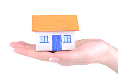 House on hand Royalty Free Stock Image