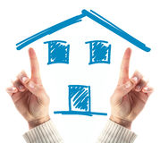 House in hand Stock Images