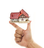 house and hand Royalty Free Stock Photos