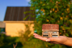 House in hand Stock Photography