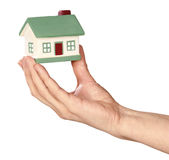 The House in hand Royalty Free Stock Photo