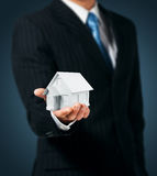 House in hand Royalty Free Stock Photography