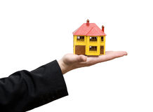 House in a hand Stock Photography