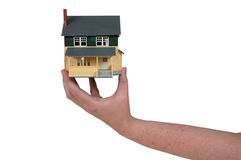 House in hand Stock Photo