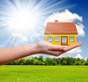The house in hand Stock Image