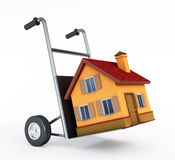 House on hand cart Stock Photo