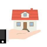 House in the hand Royalty Free Stock Images