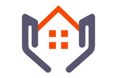 House on hand logo. Vector dsign Royalty Free Stock Photo