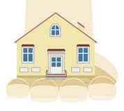 House on the hand Stock Photo
