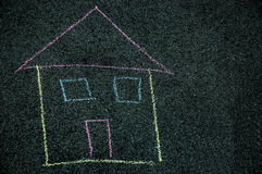 House handmade drawing Stock Image