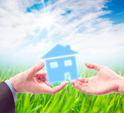 The House in the Hands. Royalty Free Stock Image