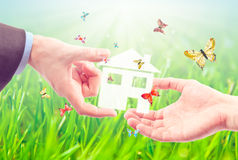 The House in the hands. Stock Image