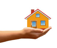 The house in hands Royalty Free Stock Photo