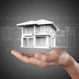 The house in hands Royalty Free Stock Photography