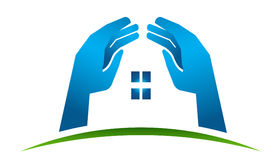 House Hands logo Royalty Free Stock Photos