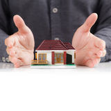 House and hands Stock Images