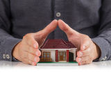 House and hands Stock Photography