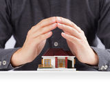 House and hands Stock Photos