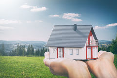 House in hands concepts. Royalty Free Stock Photography