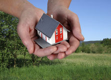 House on hands Royalty Free Stock Photos