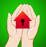The house is in the hands Stock Photo