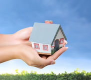 House in hands Royalty Free Stock Photos