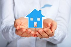 House in hands. Royalty Free Stock Images