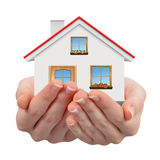 The house in hands Royalty Free Stock Images