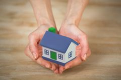 House on the hands Stock Images
