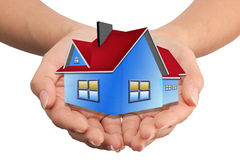 House in the hands of the real estate business Stock Images