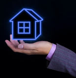 House in hands. Real estate concept Stock Image