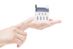 House in hands,real estate economy concepts Stock Images