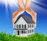 House between  hands Stock Images