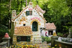 House of Hansel and Gretel, theme park De Efteling in The Netherlands. House of Hansel and Gretel in the fairytale forest, theme park De Efteling in The Royalty Free Stock Image