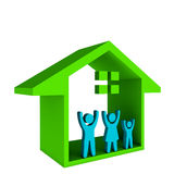 House with Happy Family Logo icon illustration  Stock Photos