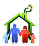 House and happy family illustration design Stock Photos