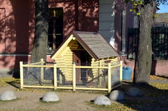 House for hares. On the Hare islande in Saint-Petersburg, Russia Royalty Free Stock Images