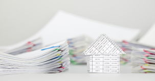 House have blur pile overload paperwork of receipt time lapse