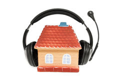 House with headphones Royalty Free Stock Images