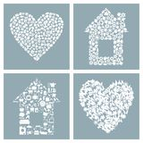 House and heart Stock Photo