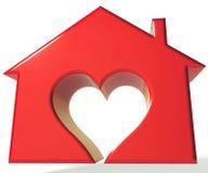 House Heart 3D Logo Royalty Free Stock Photo