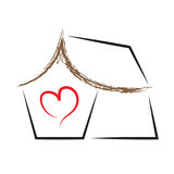 House heart home vector logo symbol Stock Photo