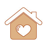 House with heart icon Royalty Free Stock Photos