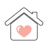 House with heart icon Royalty Free Stock Photo