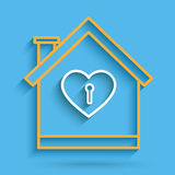 House heart key Stock Images