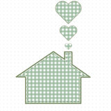 House and heart, needlework. Cute Baby Style Royalty Free Stock Photo