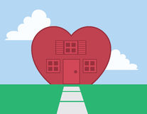 House Heart Royalty Free Stock Image